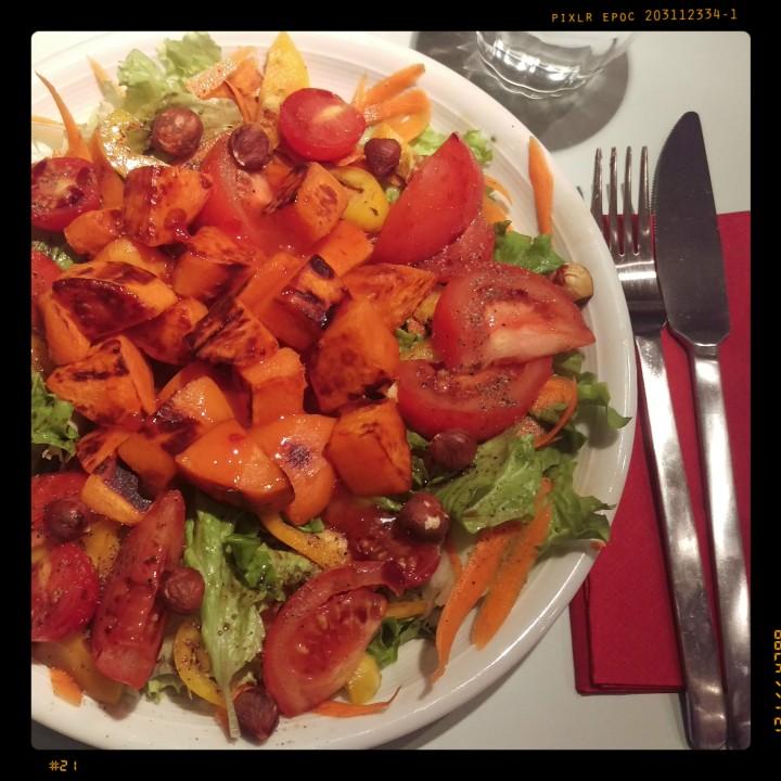 151202 salat m röst-süßkartoffeln