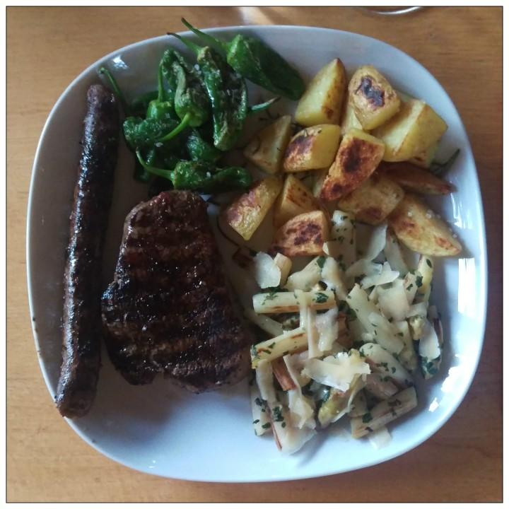 160704 bratwurst steak spargel